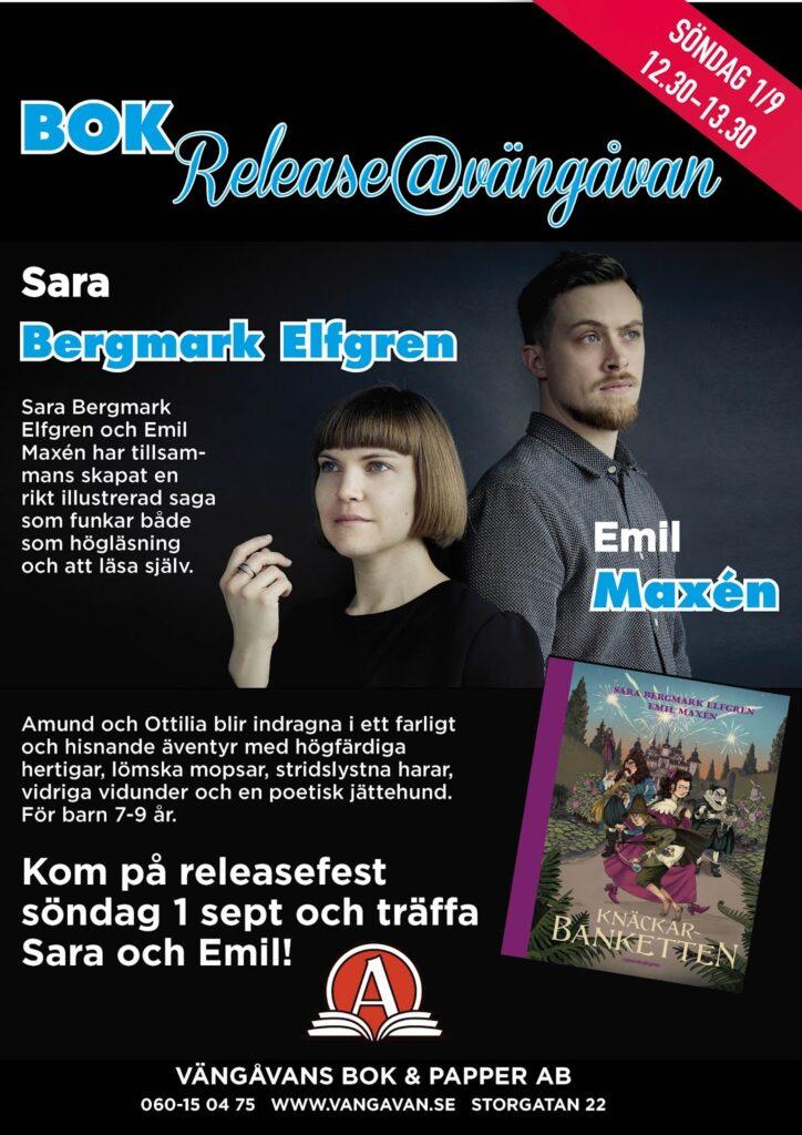 Boksläpp med Sara och Emil, 1 sept kl 12.30
