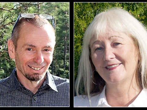 Signering: Micael Lindberg och Carina Aynsley